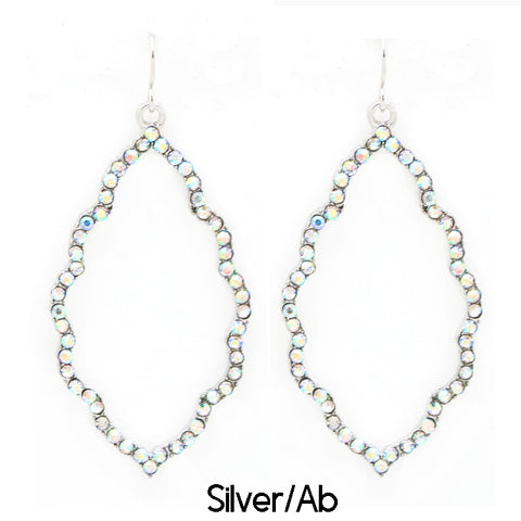 Silver AB Rhinestone Sophie Earrings