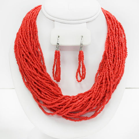 Red Seed bead Necklace