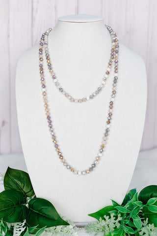 "Muted Tones Crystal 60"" Necklace"