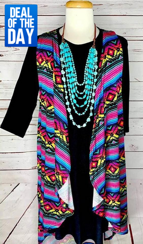 SALE* Sahara Tribal High Low Vest
