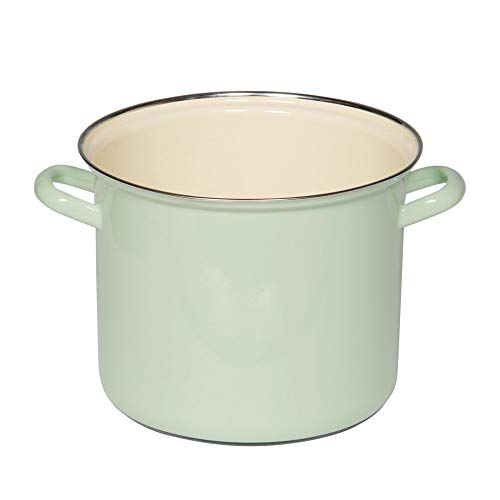 Riess  Classic - Household Articles Colour/Pastel Pot With Chrome Rim Diameter 18 Cm Blue