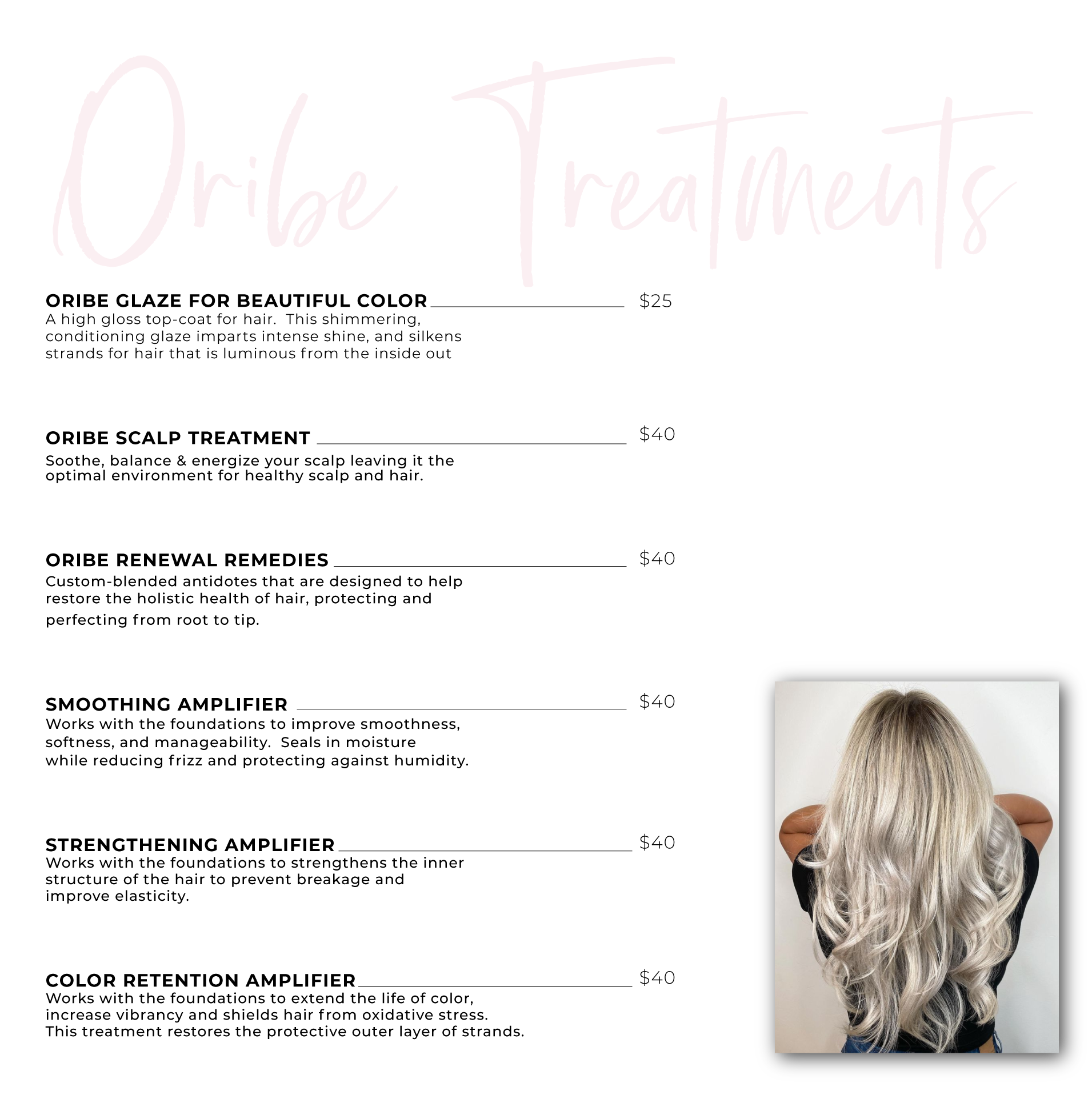 Oribe treatments