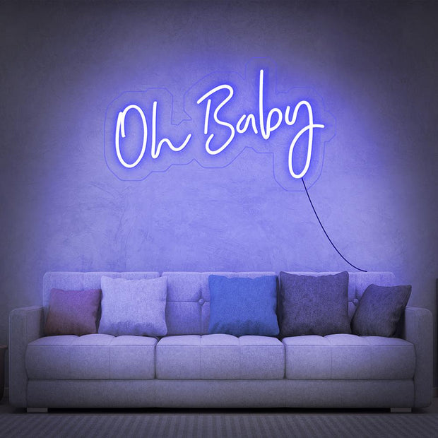 Oh Baby Neon Sign