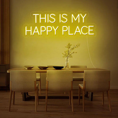 This Is My Happy Place Neon Sign