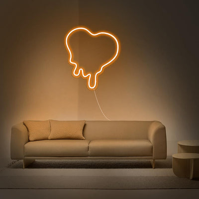 Dripping Heart Neon Sign