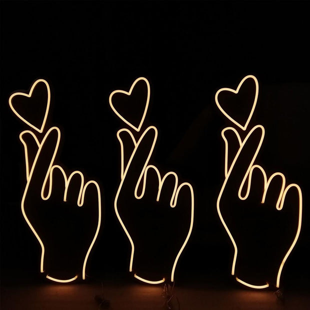 Love Finger Neon Sign