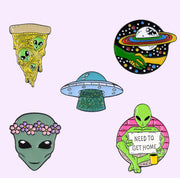 Alien Collection Enamel Pins