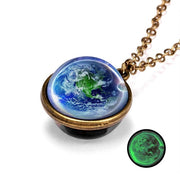 Planet Earth Luminous Double-Sided Necklace