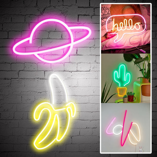 LED Neon Signs With Acrylic Back