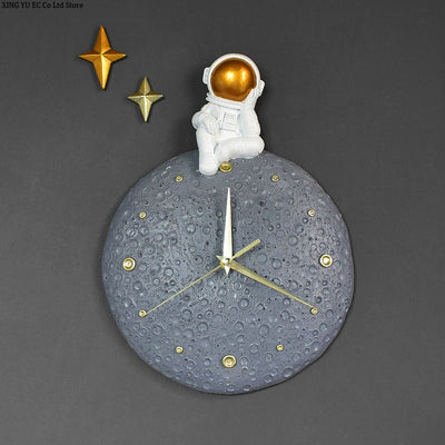 Astronaut On The Moon Wall Clock
