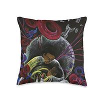 Sickle Cell Awareness Sickle Cell Pain Awareness Art Need not Suffer Alone Throw Pillow, 16x16, Multicolor