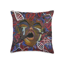 Sickle Cell Awareness Sickle Cell Pain Awareness DNA Throw Pillow, 16x16, Multicolor