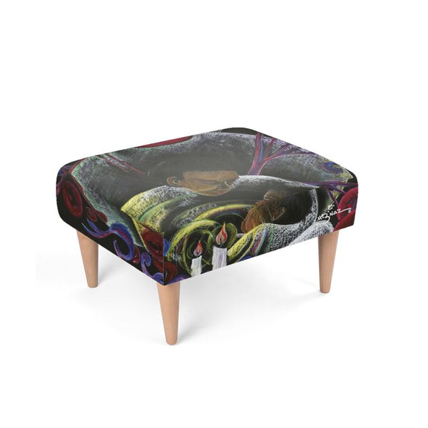 Need not Suffer Alone SCD Art Footstool