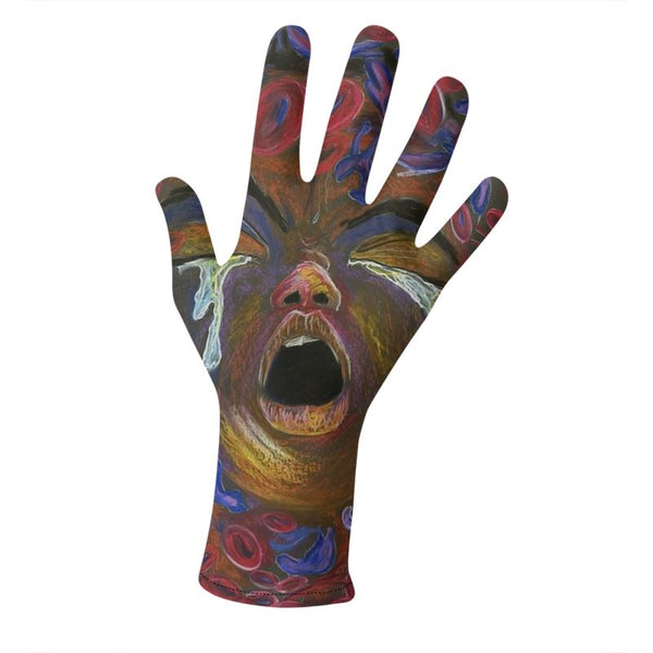 SCD Art Lycra Gloves Set of 2 Design A