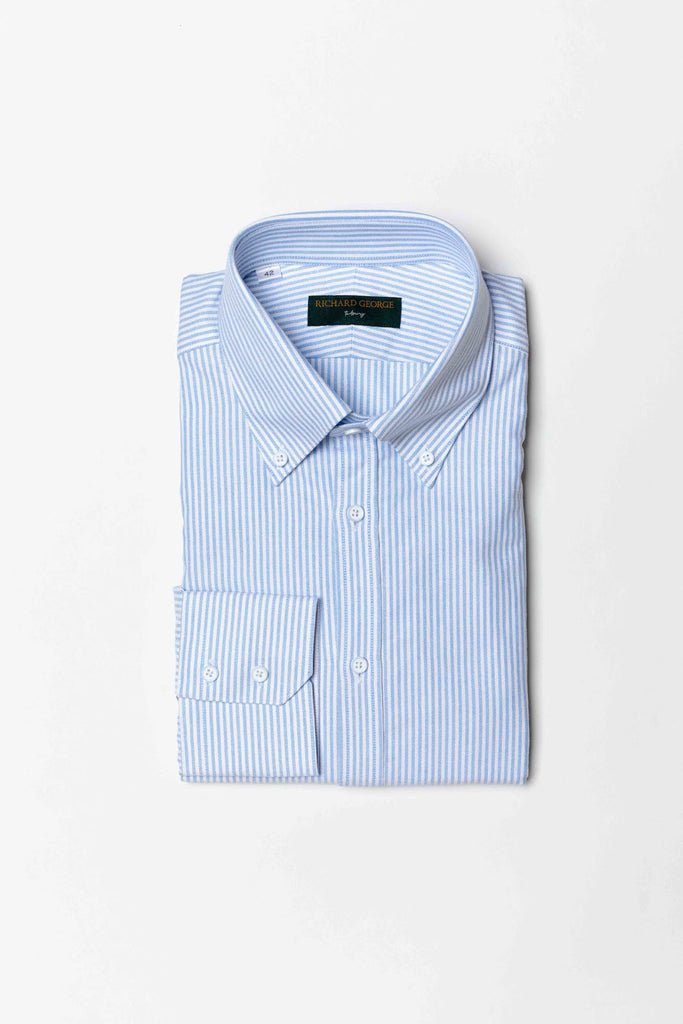 Oxford Button Down Stripe Shirt
