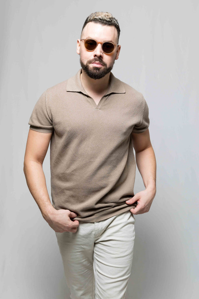Short Sleeve Camp Collar Polo
