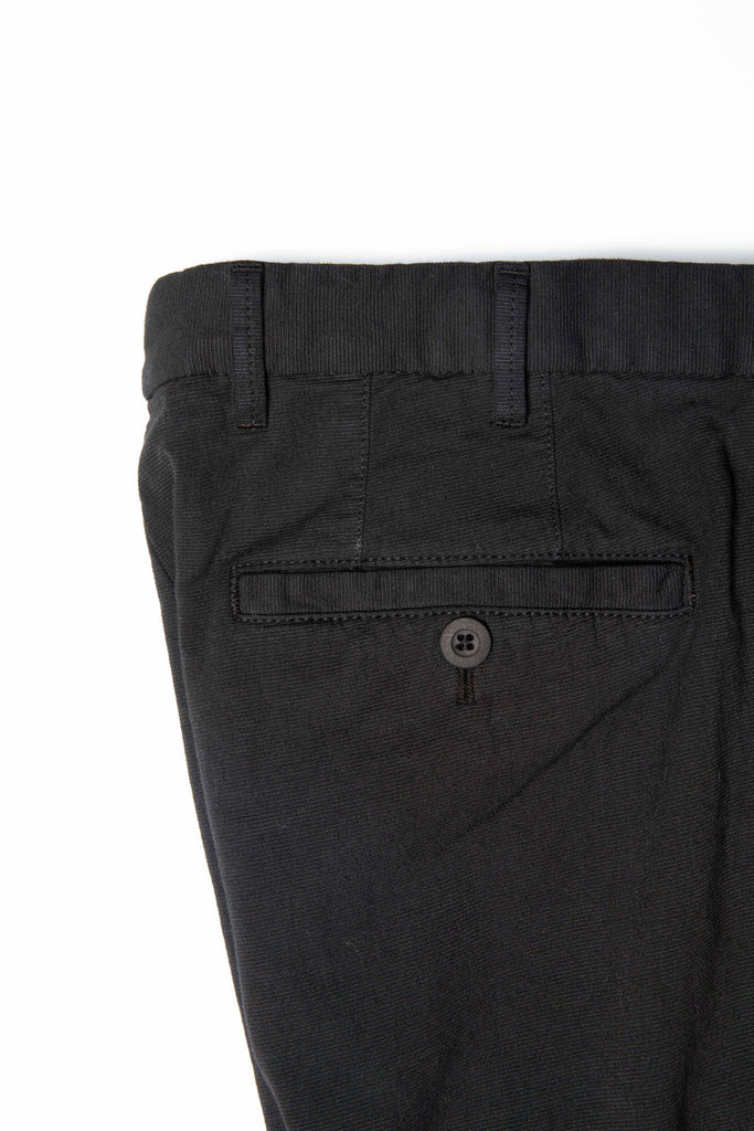 Garment Dyed Stretch Black Chinos