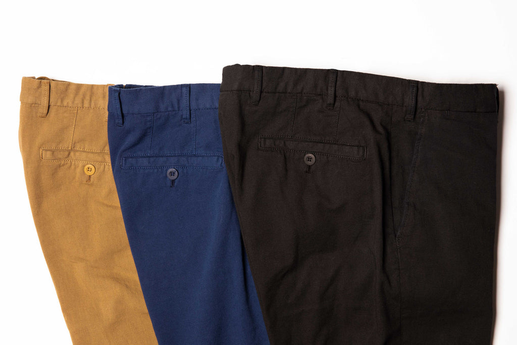 Garment Dyed Stretch Sand Chinos
