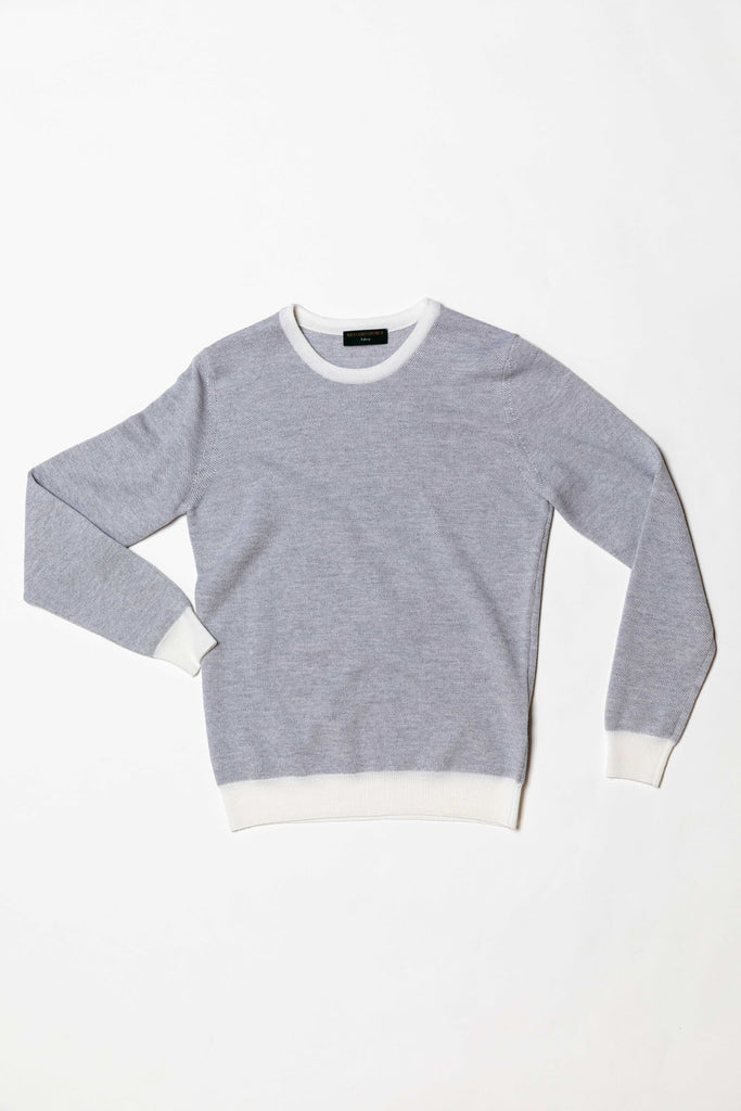 Two-Tone Crewneck Grey and Cream