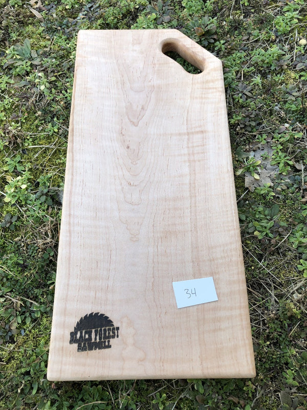 Curly Maple Charcuterie Board (34)