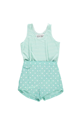 Short Short - Mint Dot