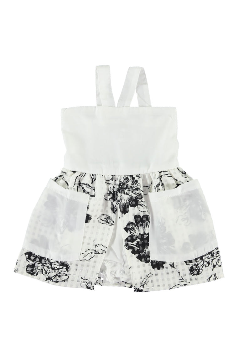 Hepburn Dress - White Floral