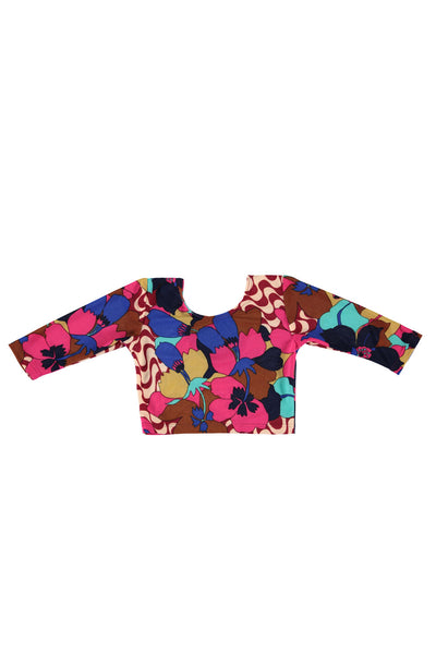 Long Sleeve Crop Top - Mod Floral