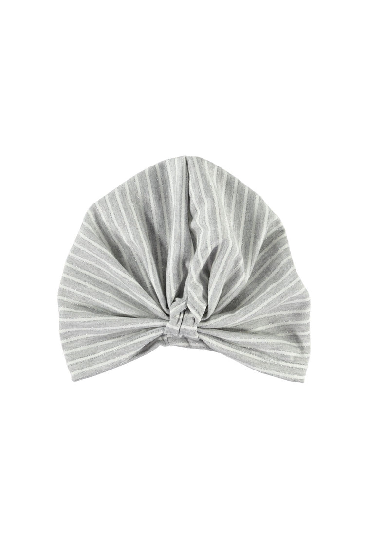 Turban - Grey Stripe