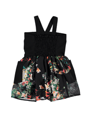 Hepburn Dress - Black Floral