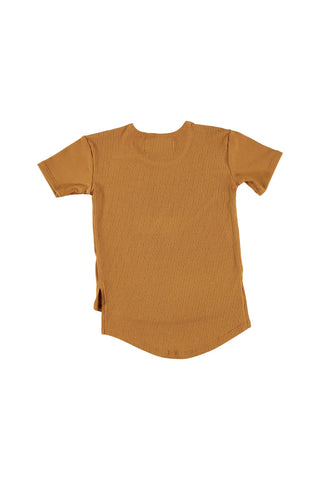 Hi-Low Tee Shirt - Honey Mustard