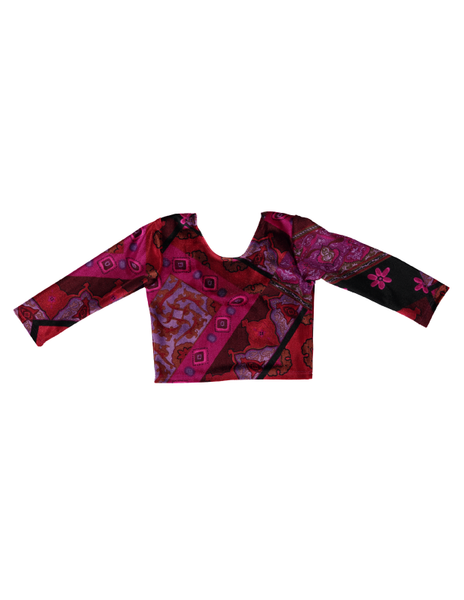 3/4 Sleeve Crop Top - Velvet Patch