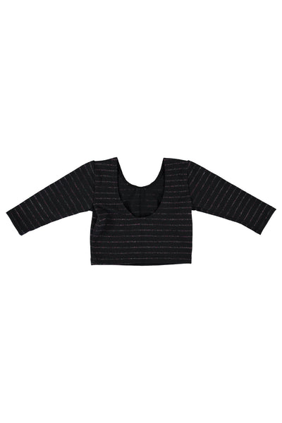 Long Sleeve Crop Top - Midnight