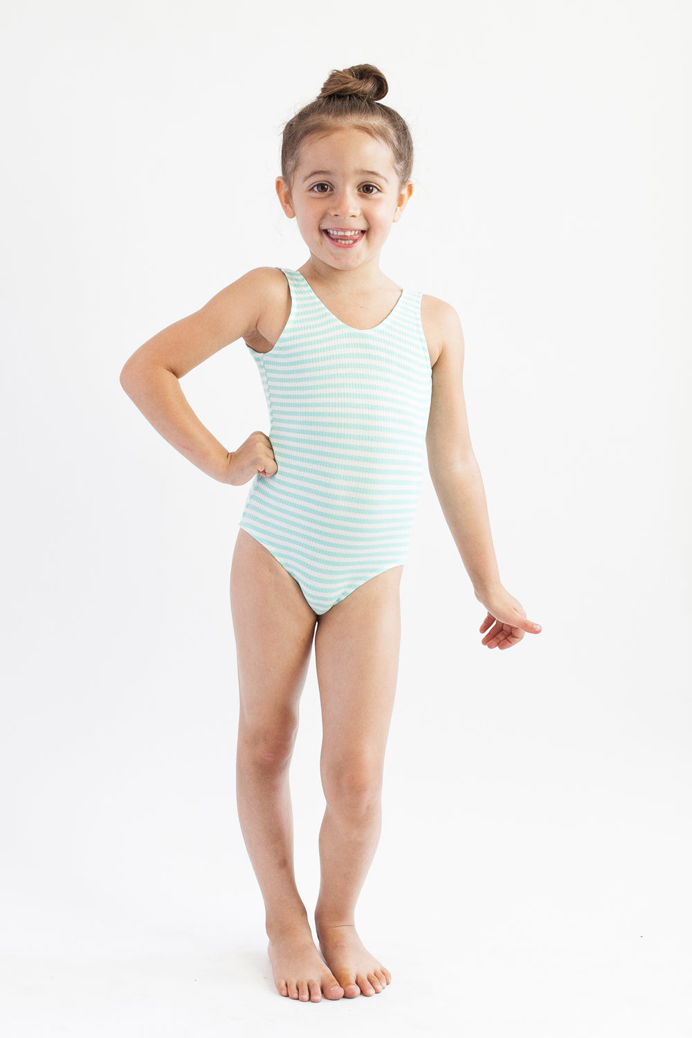 Leotard -  Mint Stripe