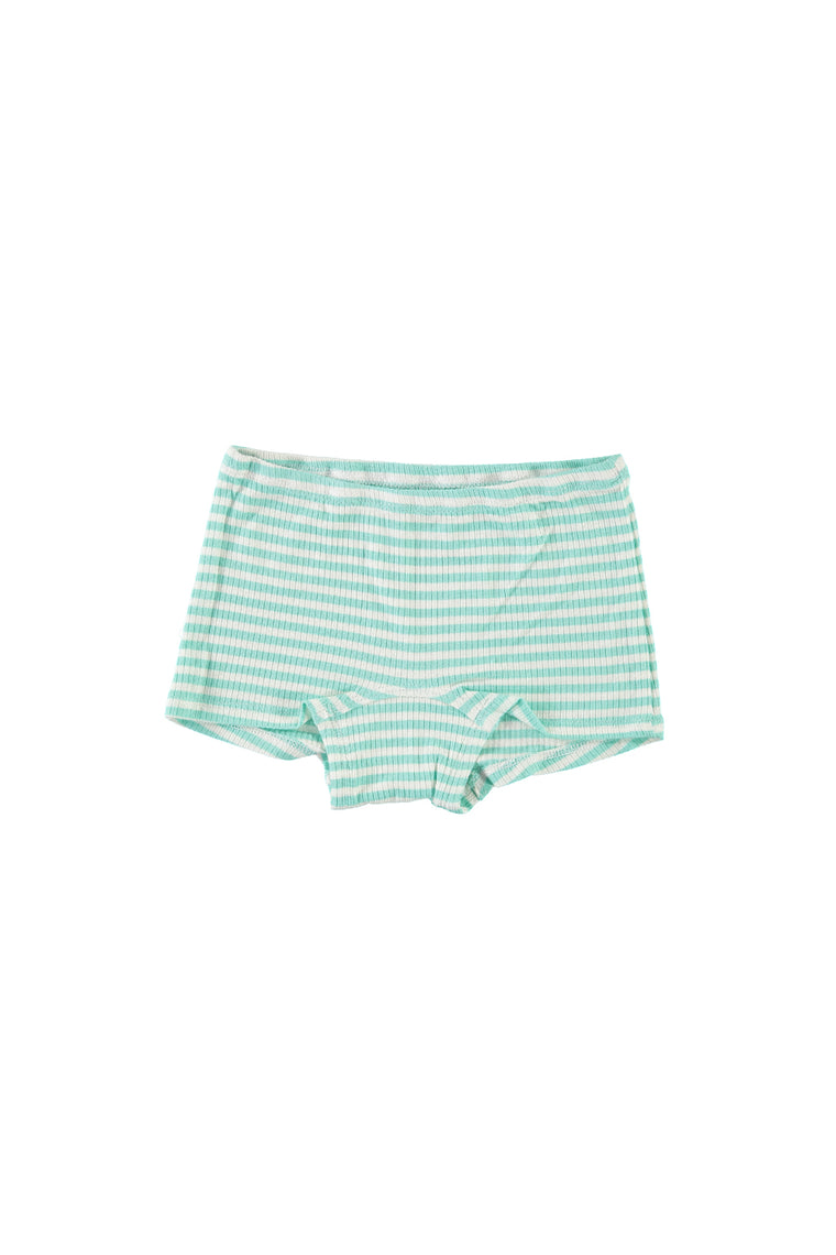 Boy Short Undies - Mint Stripe