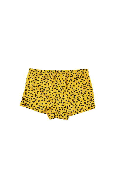 Boy Short Undies - Mustard Dot