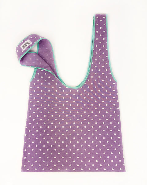 Farmers Market Bag - Lilac Dot