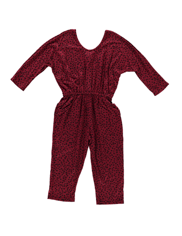 Playsuit - Burgundy Dot