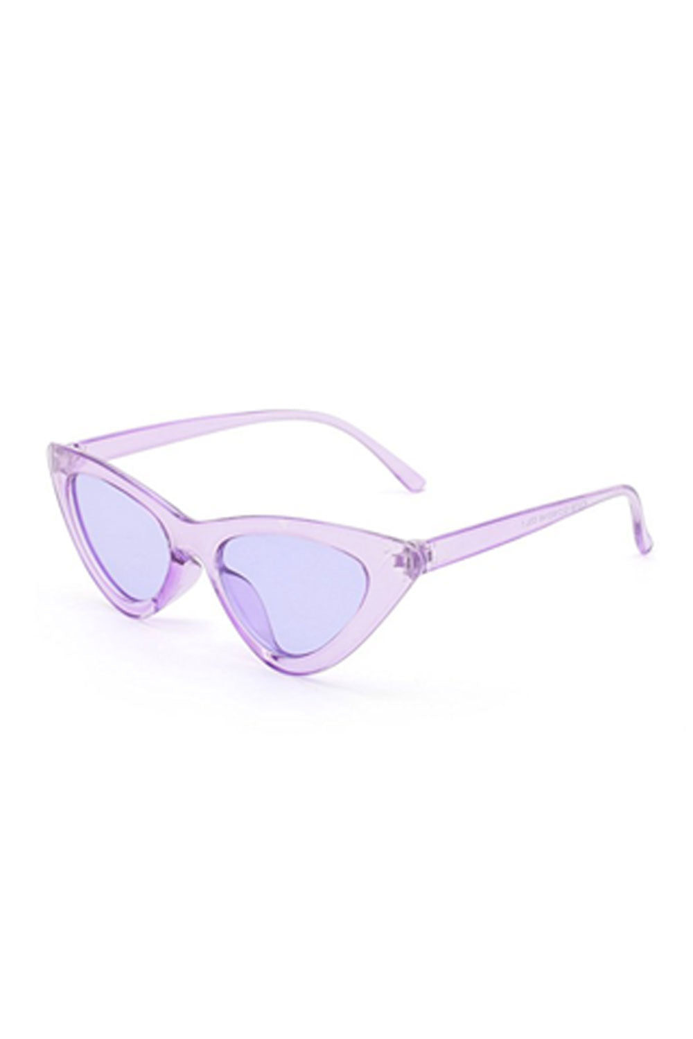 Retro Cat Eye Sunglasses - Violet
