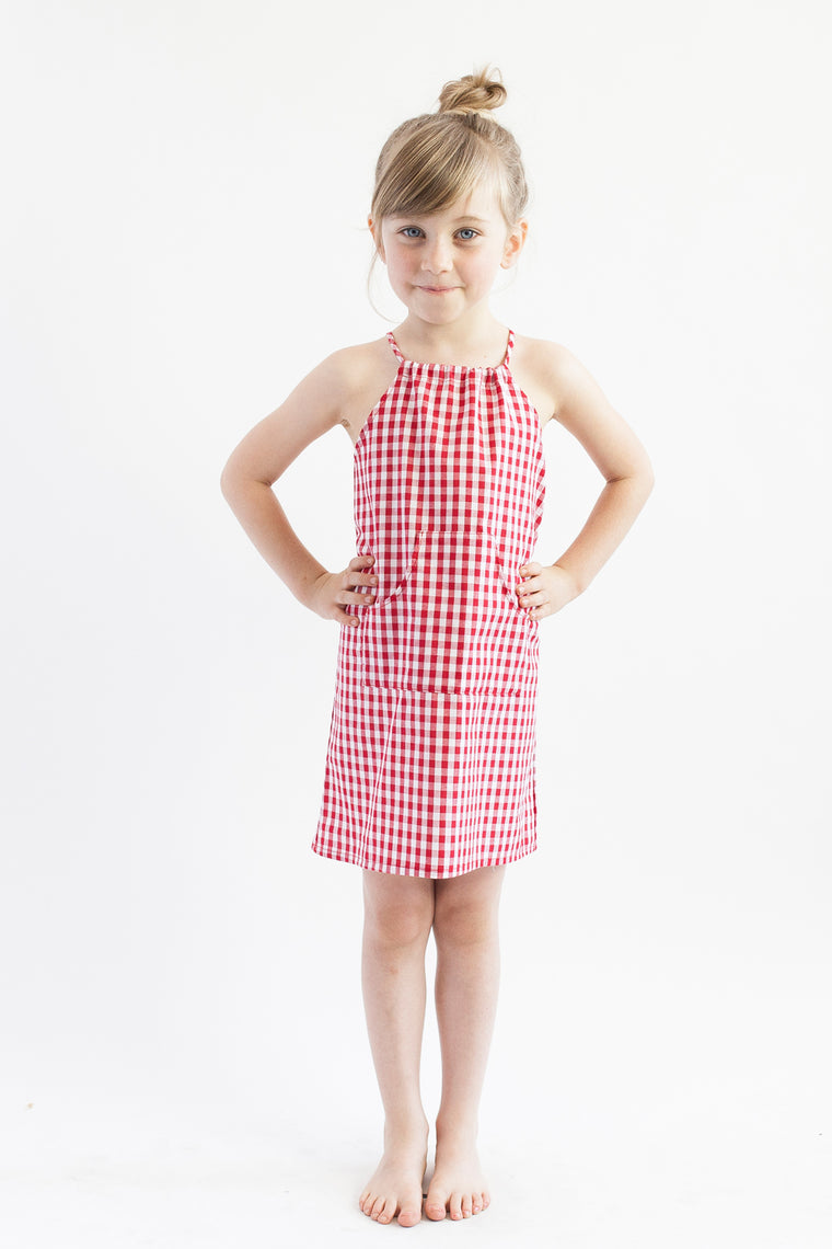 Halter Dress - Red Check