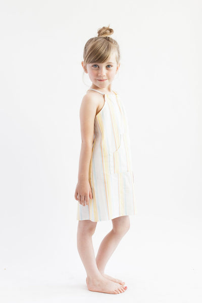 Halter Dress - Retro Stripe
