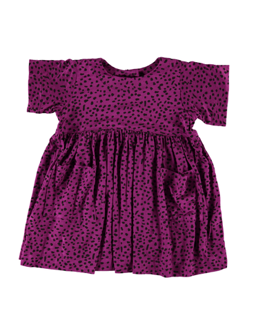 Shmock Dress - Magenta Dot