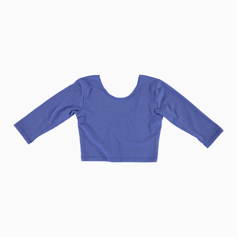 Long Sleeve Crop Top - Grape