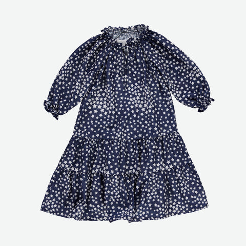 Star Print Girls Dress