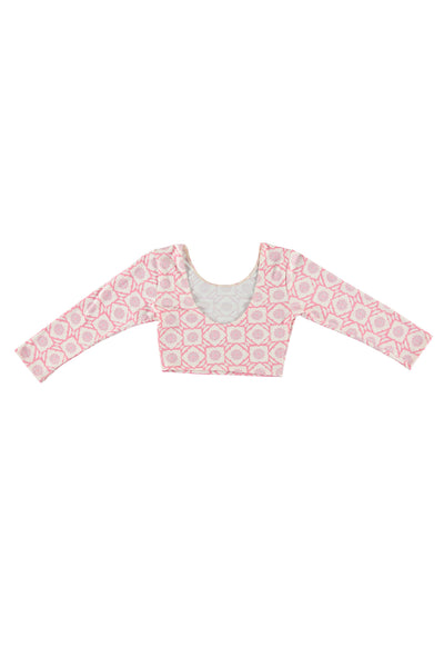 Women's 3/4 Sleeve Crop Top - Lotus