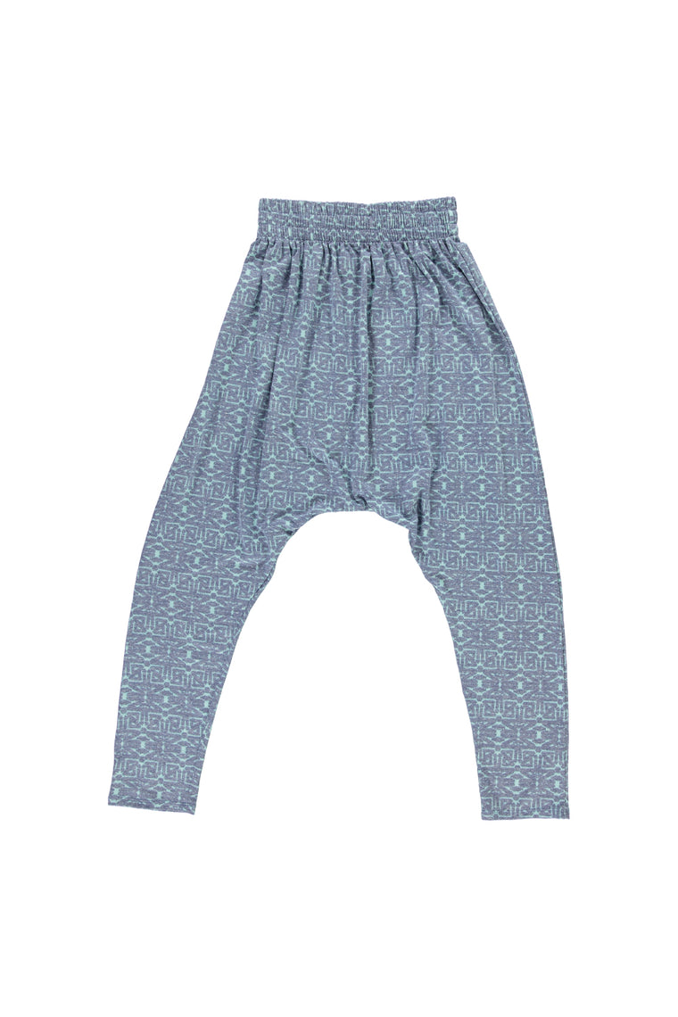 Women's Harem Pants - Tribal Indigo