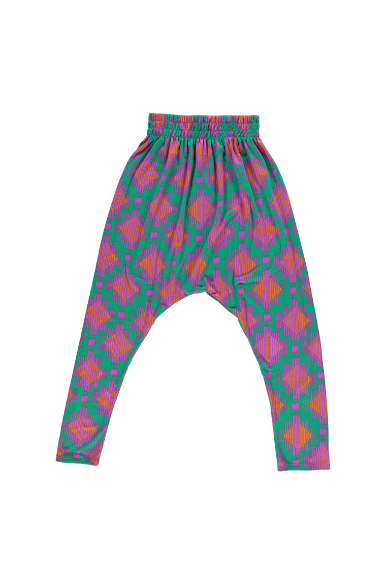 Women's Harem Pants - Technicolor Ikat