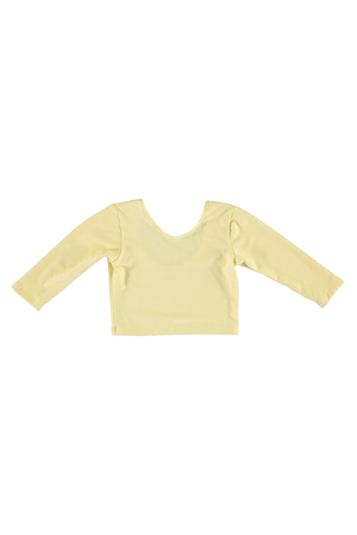 3/4 Sleeve Crop Top - Butter