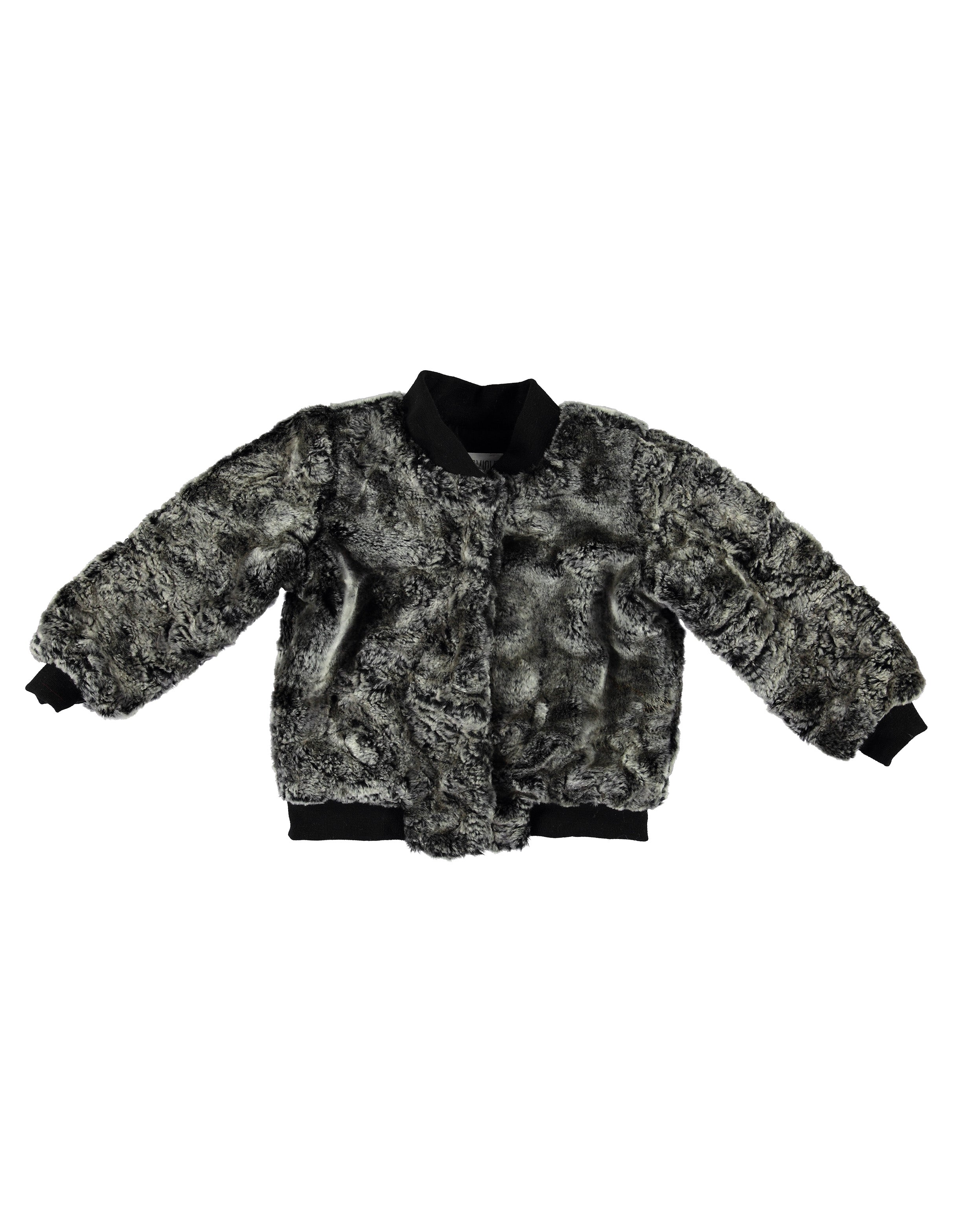 Faux Fur Bomber - Black