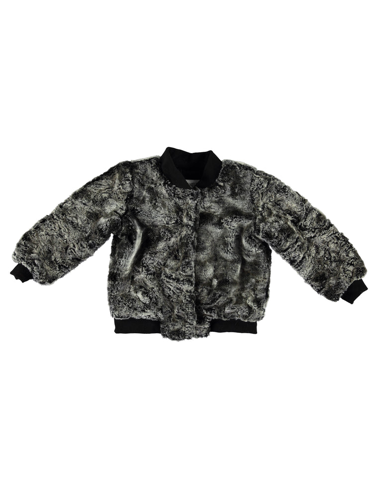 Faux Fur Bomber - Grey