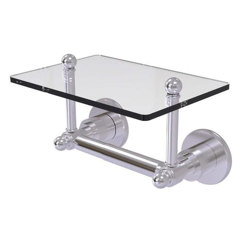 Wall mounted TP holder with glass shelf